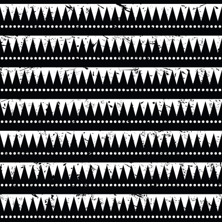 vintage styled design: Seamless aztec tribal pattern- grunge, retro style Illustration
