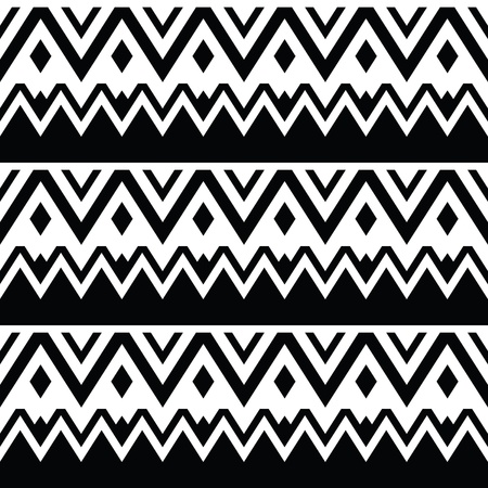 Aztec seamless pattern, tribal black and white background Stock Vector - 19981094