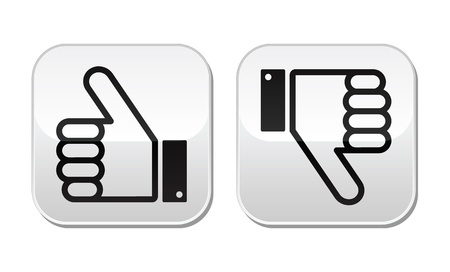 Thumb up and down buttons set - social media Illustration