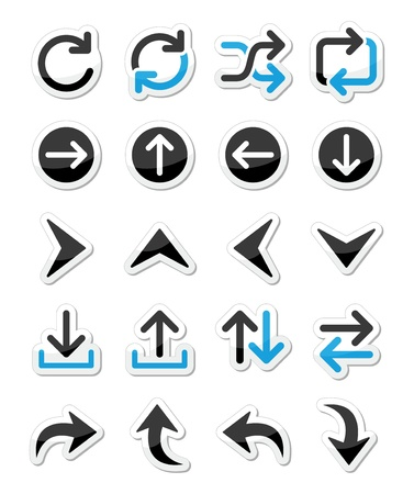 Arrow vector icon sets isolated on white Stock Vector - 20466027