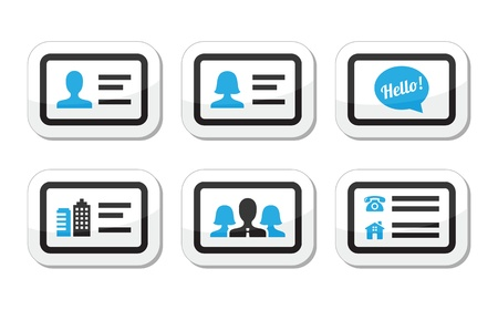 id: Business card vector icons set