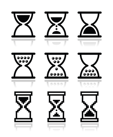 Hourglass, sandglass icon set Stock Vector - 20668134