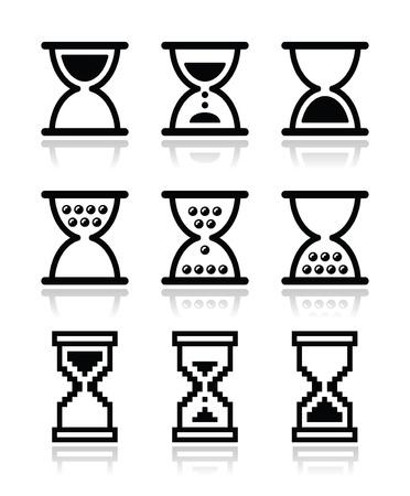 reloj de arena: Reloj de arena, reloj de arena conjunto de iconos