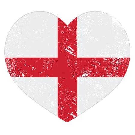 England heart retro flag Stock Vector - 20668156