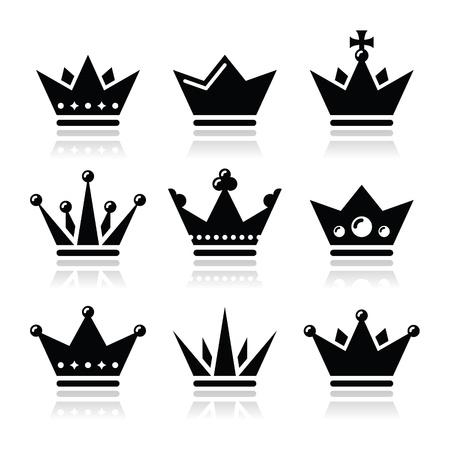 corona de rey: Corona, iconos de la familia real establecen