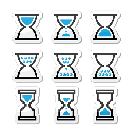 timer: Hourglass, sandglass icon set Illustration
