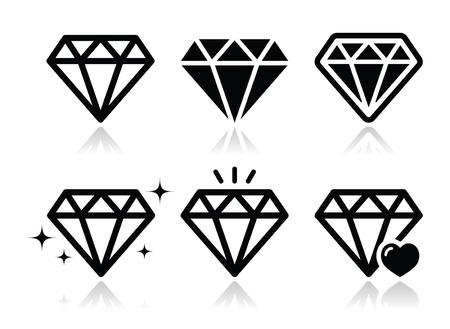 ダイヤモンドのアイコンを設定  イラスト・ベクター素材