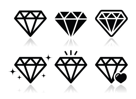 Diamond  icons set Stock Vector - 21213200