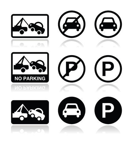 No parking, parking forbidden sign Vector