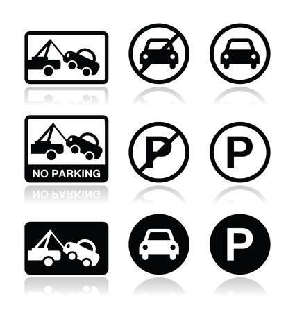 car parking: No parking, parking forbidden sign