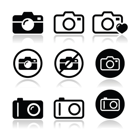 no label: Camera icons set