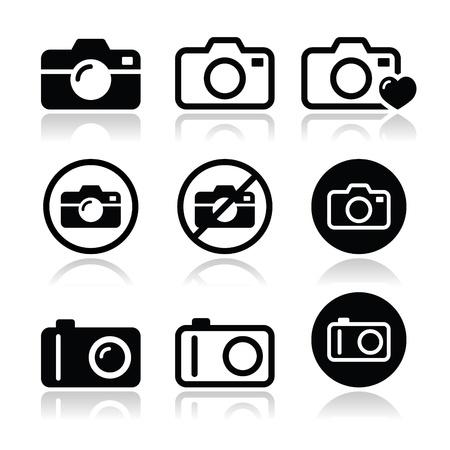 Iconos de cámara ajustada Ilustración de vector