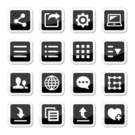 Menu settings tools icons set Stock Vector - 21448622