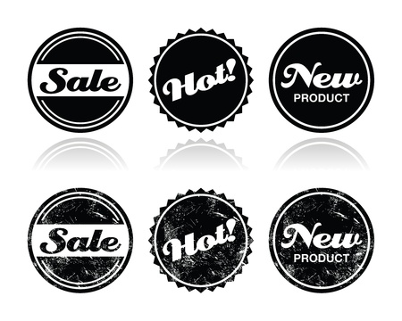 Shopping retro badges - sale, new, hot product Vector