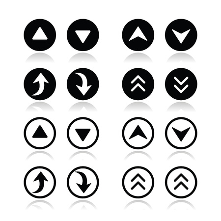 Up and down arrows round icons set Stock Vector - 21448651