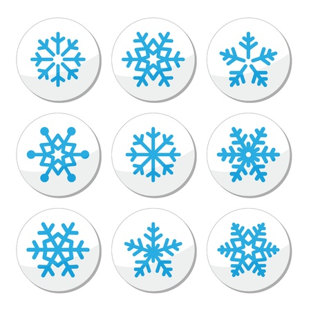 Snowflakes, Christmas vector icons set Stock Vector - 21448652