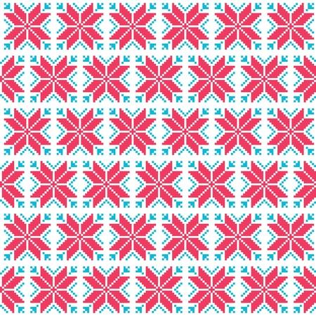 scandynavian: Christmas nordic seamless pattern Illustration