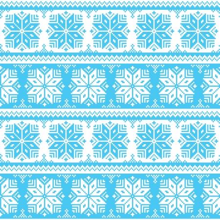 fancywork: Nordic seamless christmas blue pattern