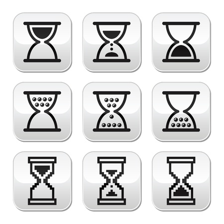 Hourglass, sandglass vector icon set Vector