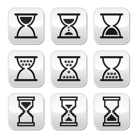 Hourglass, sandglass vector icon set Stock Vector - 21989667