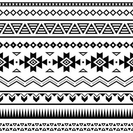 mexican folklore: Aztec mexican seamless pattern