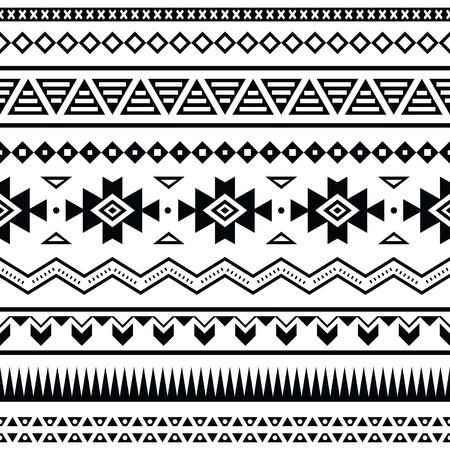 tribal: Aztec seamless mexicain Illustration