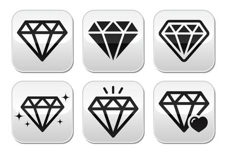 Diamond icons set Stock Vector - 22318740