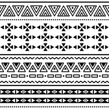 mayan culture: Tribal ethinc ztec seamless pattern