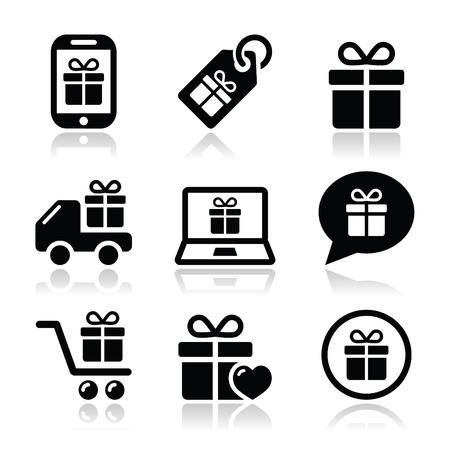 Present, shopping vector icons set Stock Vector - 22318750