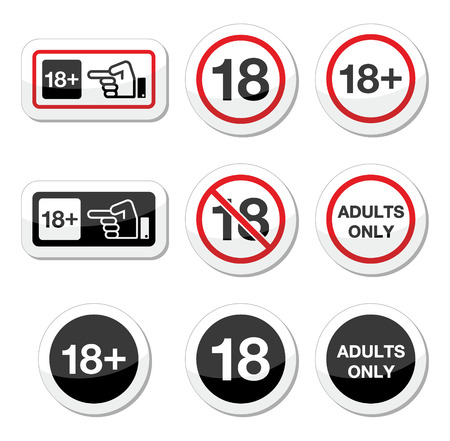adults only: Under 18, adults only warning sign