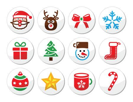 Christmas, santa vector icons set Stock Vector - 22778593
