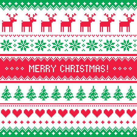 scandynavian: Merry Christmas pattern with deer - scandynavian sweater style