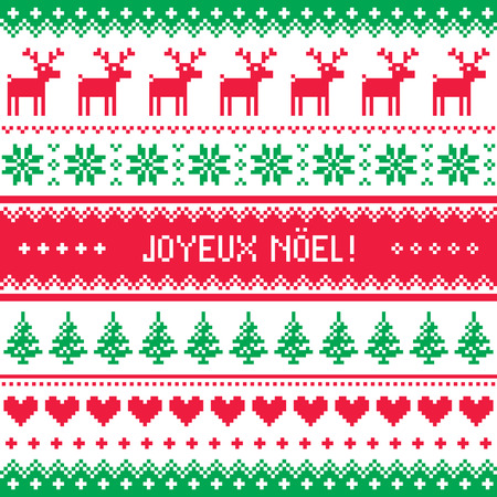dekorativa mönster: Joyeux Noel kort - scandynavian jul mönster