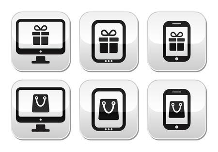 Shopping online, internet shop buttons set Stock Vector - 23649633