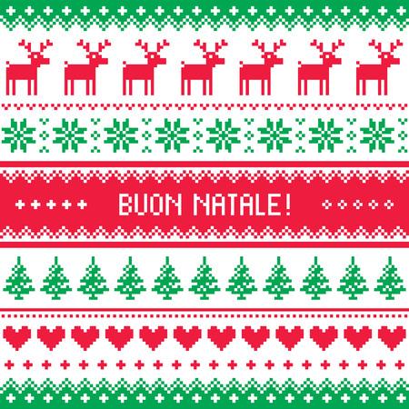 sueteres: Buon Natale tarjeta - Navidad patr�n scandynavian
