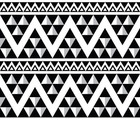 tribales: Tribal azteca patrón abstracto sin fisuras