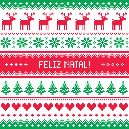 scandynavian: Feliz natal card - scandynavian christmas pattern