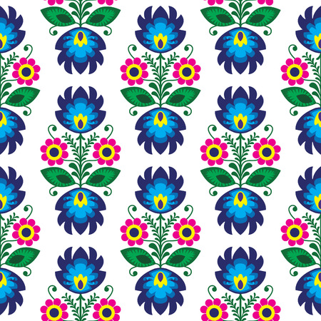 Seamless traditional floral polish pattern - ethnic background Illustration