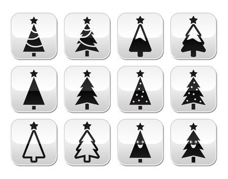 Christmas tree vector buttons set Stock Vector - 24025798
