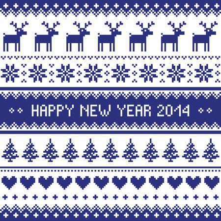 scandynavian: Happy New Year 2014 - scandynavian christmas pattern
