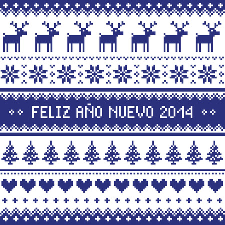 nuevo: Feliz Ano Nuevo 2014 - spanish happy year pattern