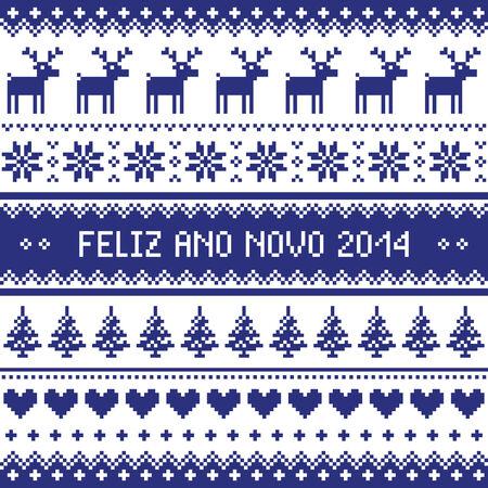 scandynavian: Feliz Ano Novo 2014 - protuguese happy new year pattern