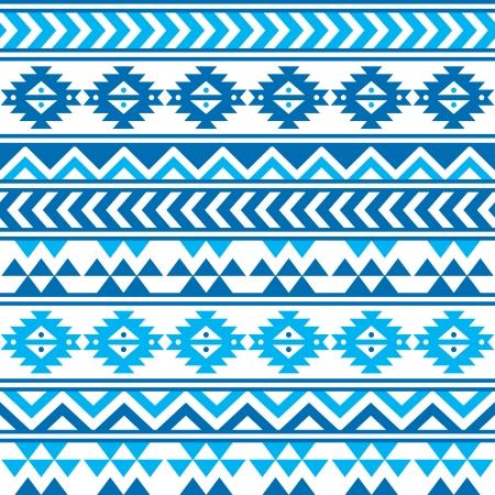 azul marino: Aztec modelo azul y azul marino inconsútil tribal