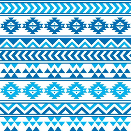 Motif bleu marine et transparente tribal aztèque Banque d'images - 24220431