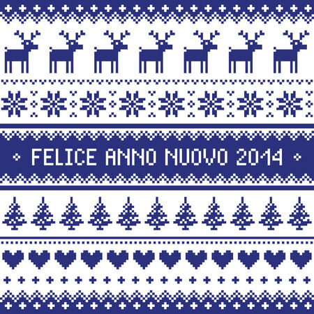 Felice Anno Nuovo 2014 - italian happy new year pattern Vector