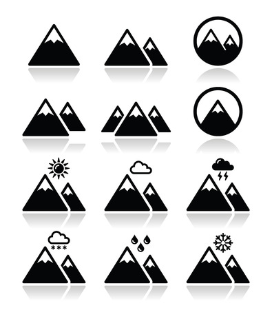 Mountain vector icons set  Stock Vector - 24507376