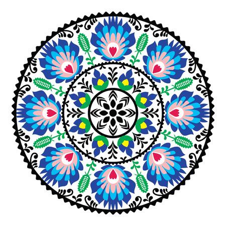 Polish traditional folk pattern in circle Illustration