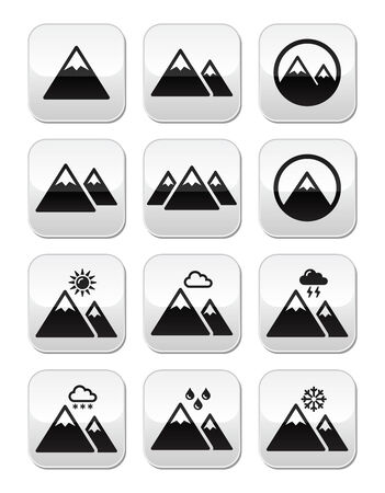 Mountain vector buttons set  Vector