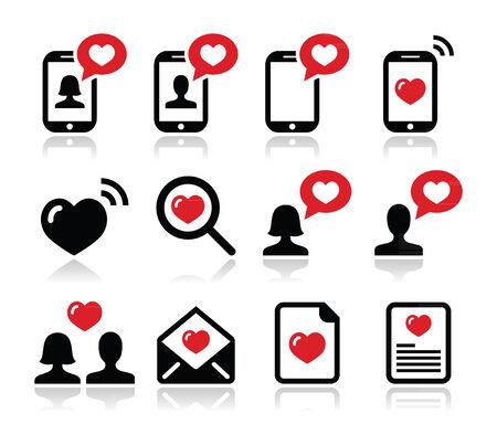 Love, Valentine s Day icons set Vector
