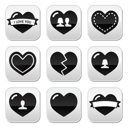 Love,hearts icons set for Valentine s Day Vector